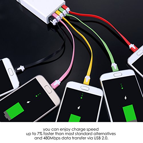 Micro USB Cable, OKRAY 10 Pack Short Android Charger Colorful Micro USB to USB A Charging Data Sync Cable Cord Compatible for Samsung Galaxy S6 S7 J7 Note 5, LG, Nokia, Sony, HTC-0.66ft (7.87 Inch)