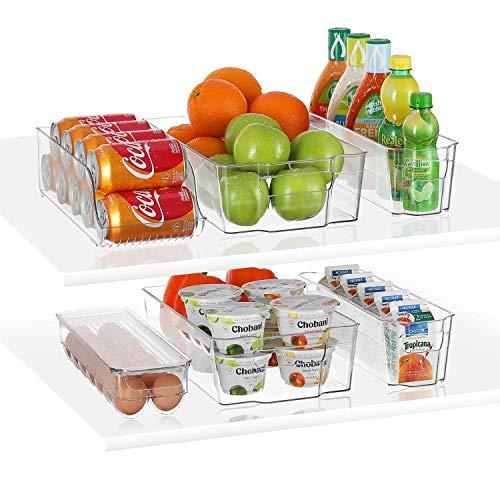 Stackable Storage Fridge Bins Refrigerator Organizer Bins...