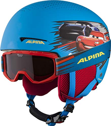 ALPINA ZUPO DISNEY SET Skihelm, Kinder, Disney Cars, 51-55