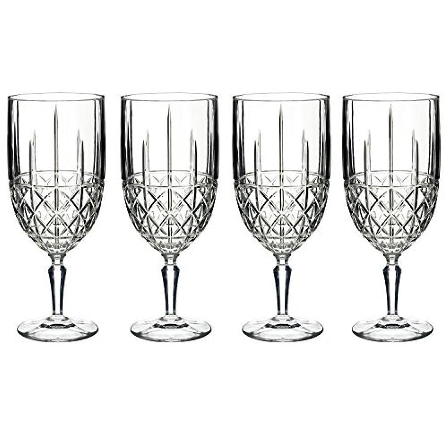 自発的コンピューターゲームをプレイするの頭の上Marquis by Waterford Brady Iced Beverage Glass (Set of 4), Clear by Marquis By Waterford