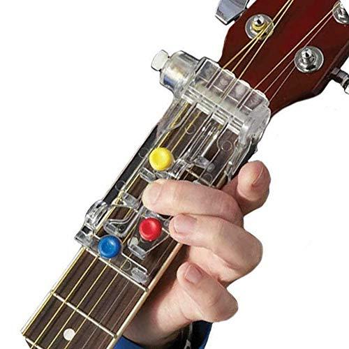 Hankyky Gitarren-Lernsystem für Anfänger Hilft ChordBoddy Lektion Akkord Anfänger Faul Artefakt Schmerzresistent Finger Finger Booster Guitar