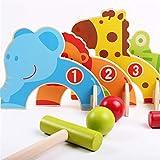 Palos de Golf Juguetes Juego de croquet juguete animal de la historieta puertas de madera Campos de juguetes divertidos de la familia al aire libre Juguetes educativos Juegos educativos for los niños