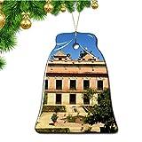 Hqiyaols Ornament España Jerez De La Frontera Navidad Adornos Colgantes Pieza Cerámica Forma Campana Recuerdo Ciudad Viaje Regalo