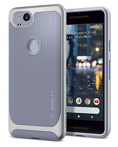 Spigen F16CS22273 Neo Hybrid Google Pixel 2 Hülle Premium Dual Layer Schutzhülle Hülle - Gunmetal
