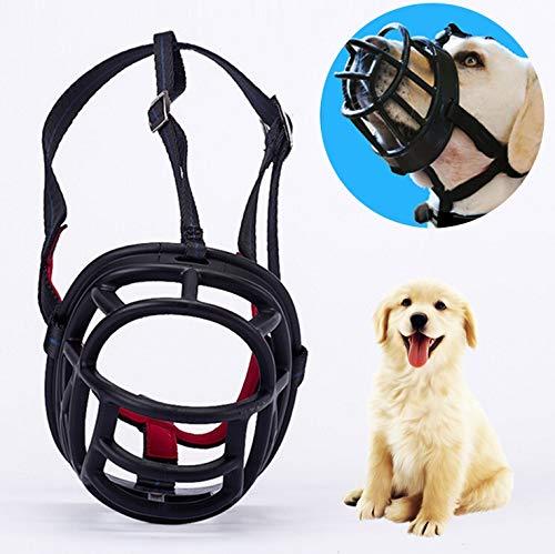 Leixin Speelgoed voor huisdieren, hondenmand, voorkomt biting, kauwen en bellen, maakt drinken en hekelen, afmetingen: 8,2 x 7,6 x 10,4 cm, zwart