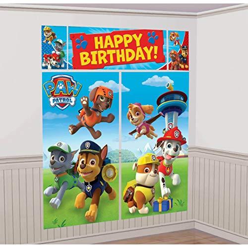 Paw Patrol - Set de cumpleaños: guirnalda para fiestas (
