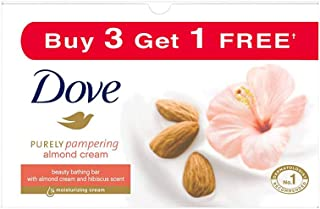 Dove Almond Cream Beauty Bathing Bar, 100 g (Pack of 4)