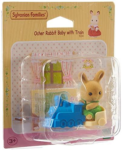Sylvanian Family 5134 Ocher Conejo bebe con tren
