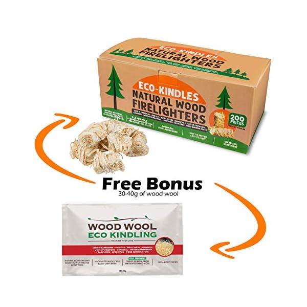 Eco-KINDLES encendedores de madera natural 2