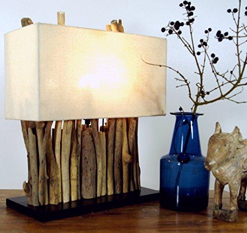 Guru-Shop Tafellamp/Tafellamp Okawango Bruin, Drijfhout, 40x35x16 cm, Tafellampen van Natuurlijke Materialen