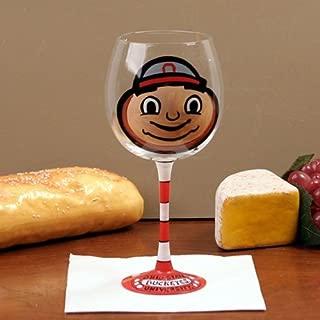 NCAA Ohio State Buckeyes Hand-Painted 16oz. Wine Glass-