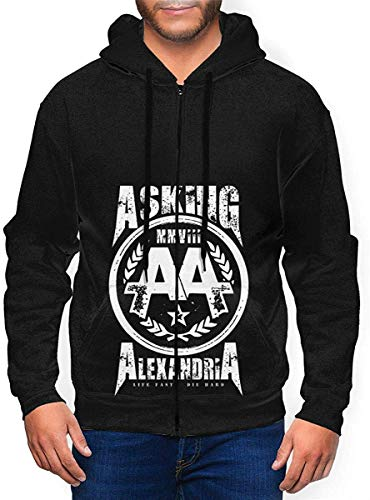 Asking Alexandria Logo Mens Hooded Zipper Shirt Long Sleeve Hooded Sweat Shirt Pullover