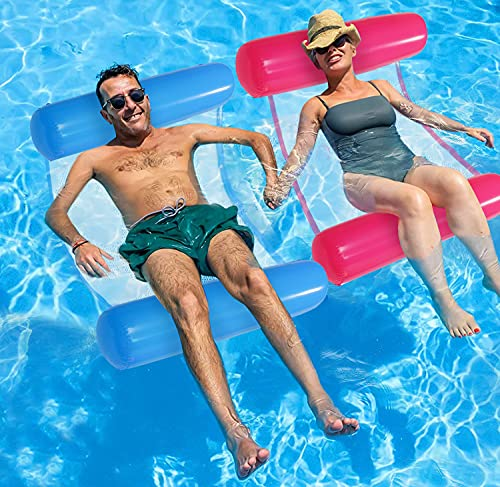Amor Hammock Floaties for The Pool, 2 Pack Inflatable Pool Rafts for Adults Pool Lounge for Summer...