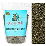 One in a Mill French Green Le Puy Dry Lentils 4lb Bulk Resealable Bag | All-Natural Plant-Based Protein for Soups, Salads, & Stews | Non-Irradiated & Sproutable | Vegan, Certified Kosher