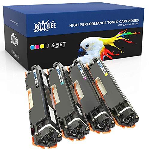 RINKLEE 126A Toner Compatible para HP Laserjet Pro M175nw M175a CP1025 CP1025nw TopShot M275 M275nw MFP Canon i-SENSYS LBP7010C LBP7018C   Alta Capacidad 1200/1000 Páginas   4-Pack