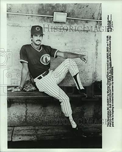 Imágenes históricas 1989 Foto de prensa Ron Guidry, Columbus Clippers jugador de béisbol en Dugout