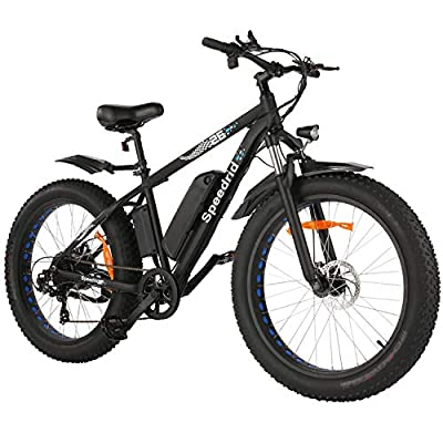 """Speedrid Electric Bike Fat Tire Electric Bike 26"""" 4.0, 500W Powerful Motor, 48V 10Ah Removable Battery and Professional 7 Speed"""