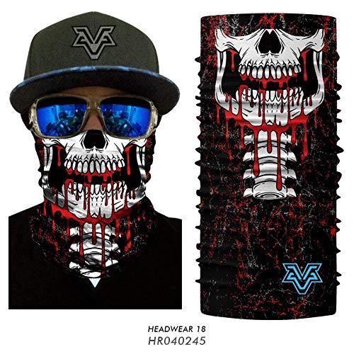 3D Máscara Facial Vampiro Joker Cuello Cuello Polaina A Prueba de Viento Ciclismo Protector Facial Al Aire Libre Fantasma Zombie Cuello Máscara de Halloween