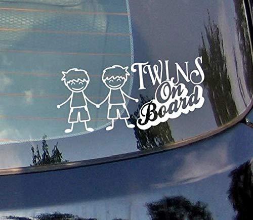 wandaufkleber babyzimmer junge Zwillinge an Bord Süße Jungs für Autoaufkleber