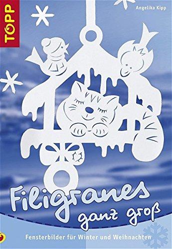 Filigranes ganz gross: Fensterbilder für Winter und Weihnacht