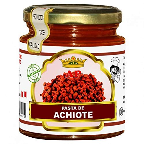 Achiote - Pasta de Achiote- 100% Producto Peruano - Ideal Para Dar Un Sabor Especial a Tus Comidas- 227 Gramos