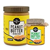 1 Kg Creamy & 200 gm Organic Unsweetened Peanut Butter - 1.2 Kg Combo Value Pack