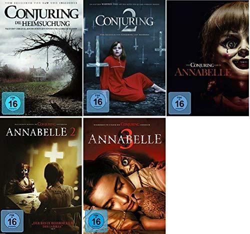 Conjuring Teil 1+2 + Annabelle Teil 1+2+3 [DVD Set] 5 Horror Filme Paket