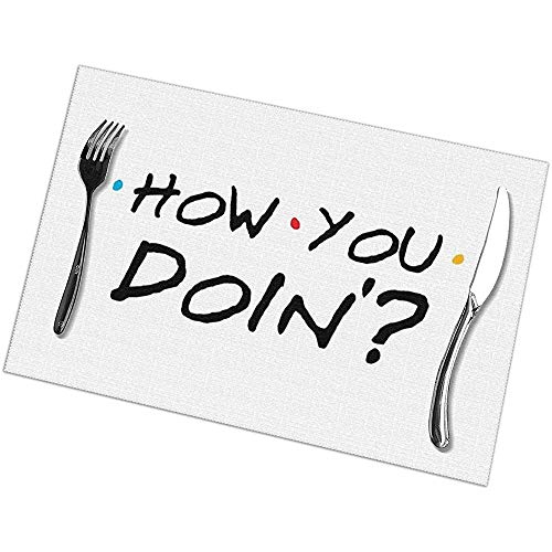 Suo Long Como Hacer Manteles de Mesa rectangulares Manteles Individuales, tapetes de Cocina para Mesa de Comedor