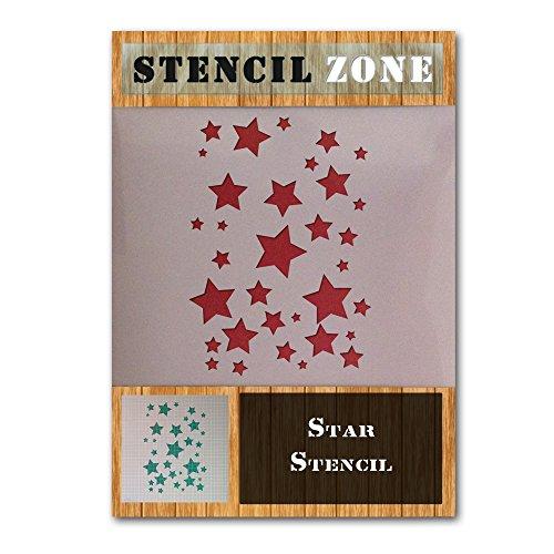 Stern Mylar Airbrush Malerei Wand-Kunst-Schablone sechs (A6 Größe Stencil - XXSmall)