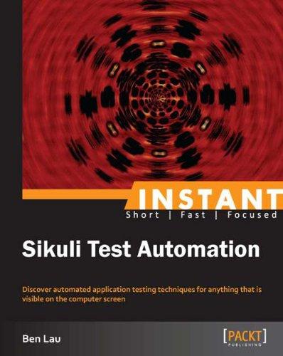 Instant Sikuli Test Automation (English Edition)