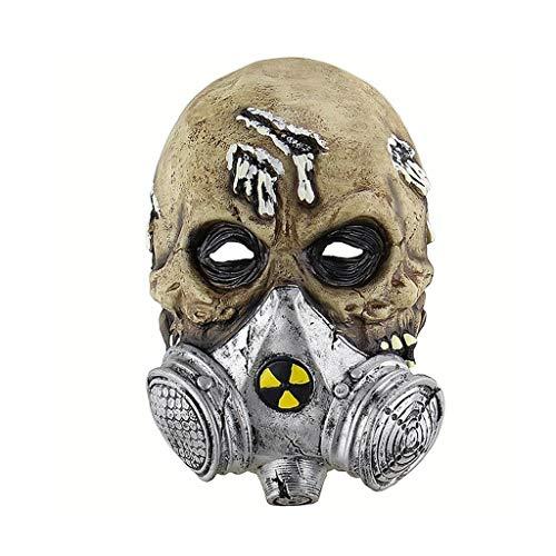 HUOQILIN Terror Biochemical Gas Mask Skull Cover Latex Masker