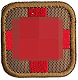 Zhikang68 Embroidered Medic Cross Tactical Patch First Aid Decorative Badge Appliques (Mud)