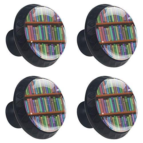 TIZORAX bibliotheek planken met oude boeken lade knoppen Pull handgrepen 30MM 4 Stks glazen kast lade trekkers voor thuis keuken kast