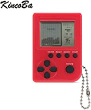 KincoBa Mini Keychain Pendant Game Tetris Game Toy Packaging Toys Built-in 26 Games (Red)