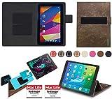 reboon Hülle für Captiva Pad 10 1 3G Kommunikator Tasche Cover Case Bumper | in Braun Wildleder | Testsieger