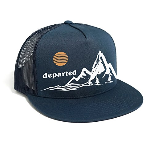 DEPARTED Herren Mesh Trucker Hat mit Print/Aufdruck - Snapback Cap - No. 36, Coastal Navy