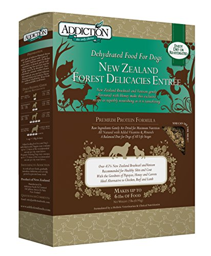 Addiction New Zealand Forest Delicacies Filler Free Dehydrated Dog Food, 2 Lb.