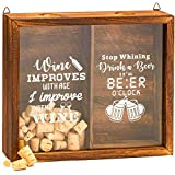 Juvale Wine Cork and Beer Cap Holder, 13 x 11 x 2.5 Inches