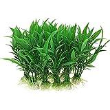 JJY 10 unids Acuario simulación Artificial Plantas de Peces Tanque Acuario Encantador decoración del hogar simulación Chino Rico bambú Planta de Agua (Color : Green)