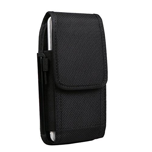 Shidan Bolsa de Teléfono de Nylon Resistente con Pinza de Cinturón y Gancho para iPhone 11Pro XS X 8 7 6 5 SE, Samsung S4 S5 S6 S7 (Compatible con Estuche Delgado)