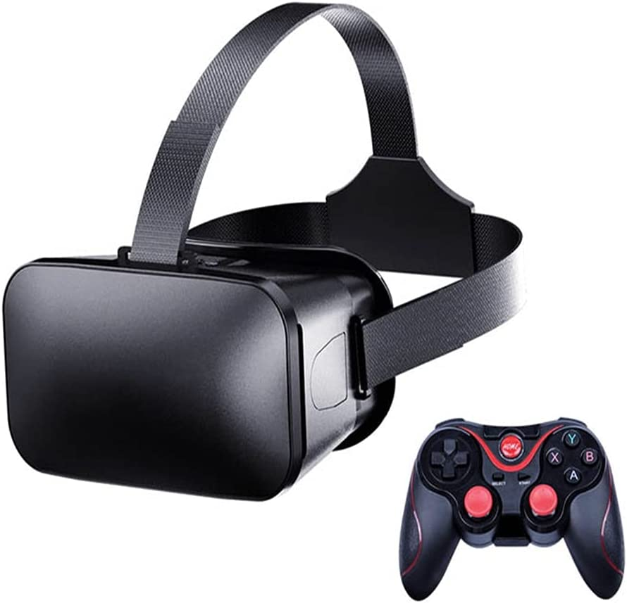J20 VR Glasses Integrated Machine VR Headset with Controller Compatible with iPhone & Android ,Virtual Reality Goggles for Kids & Adults (with C8 Controller)