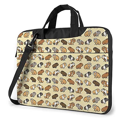 Epushow Guinea Pig Laptop Case 13 Inch Computer Handbag Shoulder Strap Messenger Briefcase Business Travel