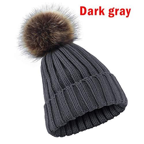CGXBZA Mode Winter Warm Gebreide Hoed Gehaakte Beanie Verdikte Ski Capfor Mannen Vrouwen Oor Warmer Haarband Haar