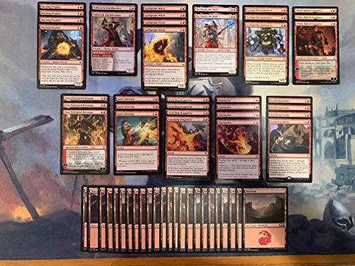 Red Burn Deck - Very Powerful - Modern Legal - Custom Built - Magic The Gathering - MTG - 60 Card!