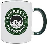 Espresso Patronum - Starbucks Themed 11oz Ceramic Mug/Cup, Grade A Quality Ceramic - Foam Box Protection (Perfect Gift)