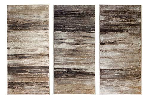Fink Morgana/Wanddeko,3erSet,Öl m.SilberfolAlu / 210x150