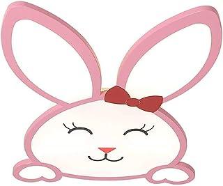 Lámpara De Techo LED Rosa Para Dormitorio De Niña, Diseño De Conejito De Animales De Dibujos Animados, Lámpara De Techo Para Habitación De Niños Moderna, Control Remoto Regulable De 46 W