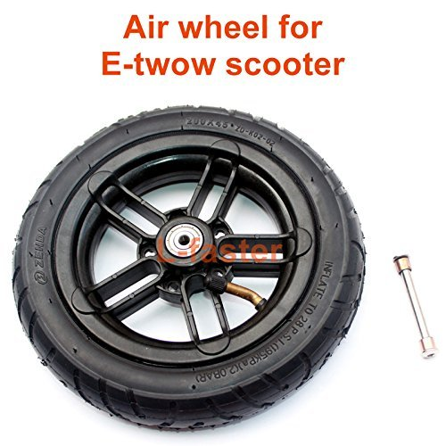 """L-faster 200x35 Pneumatic Tyre Use Nylon Hub Fit M8 or M6 Axle 8"""" Air Wheel For Electric Scooter Replacement 8 Inch Inflatable Wheel Tube (M6)"""