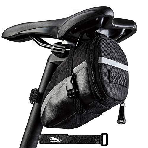 Bike Underseat Bag Waterproof Bicycle Saddle Bag Wedge Seat Pack Bag Outdoor Under Seat Bike Storage Bag for MTB Road Bike (Only Bag)