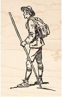 Hiker Rubber Stamp